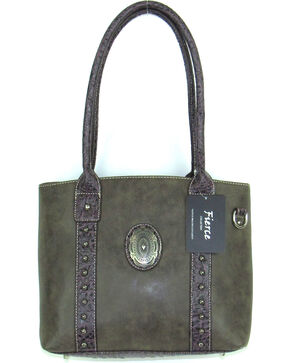 Savana Women's Fierce Concho Conceal Carry Handbag , Brown, hi-res