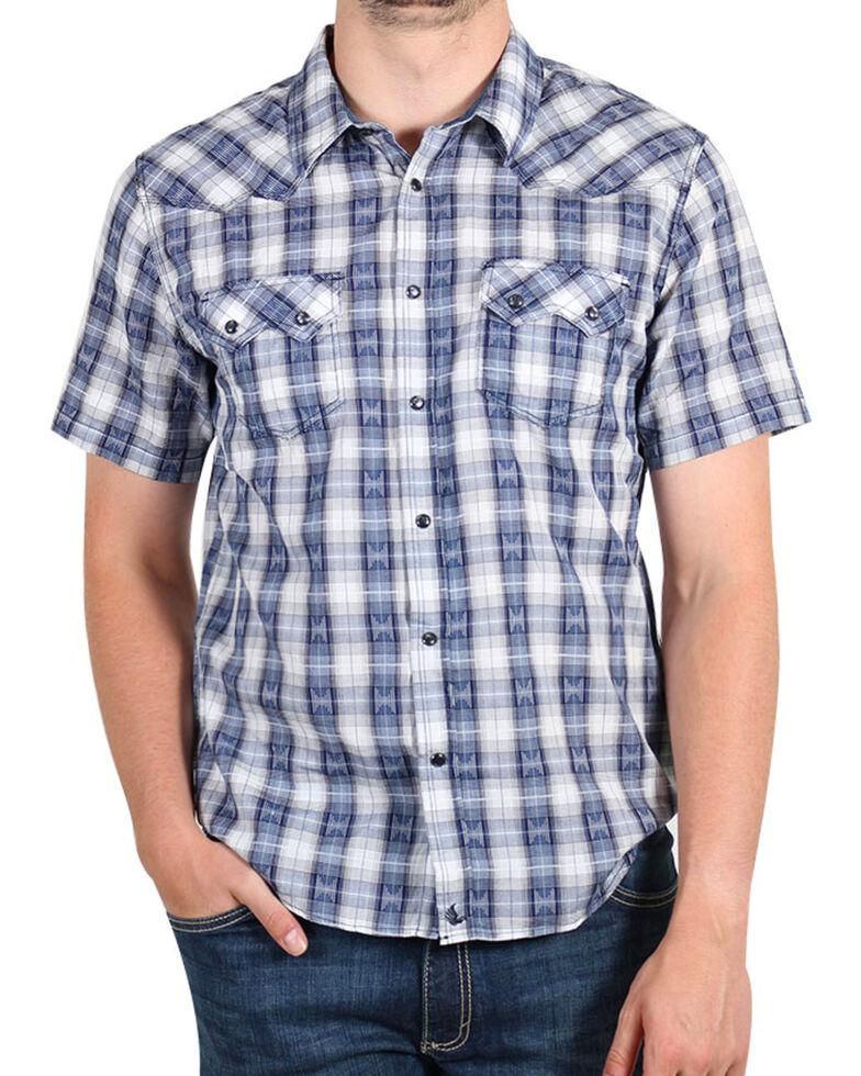 Cody James Rattler Plaid Short Sleeve Shirt, Navy, hi-res