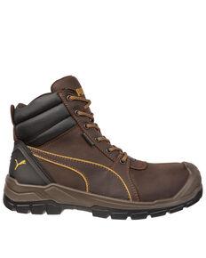 Puma Men's Tornado CTX Waterproof Work Boots - Composite Toe, Brown, hi-res