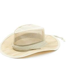 Hawx Men's Khaki Mesh Vented Work Sun Hat , Tan, hi-res