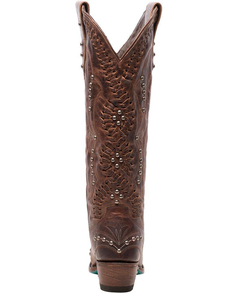 Lane Women's Cossette Western Boots - Snip Toe, Cognac, hi-res