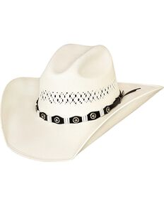 Bullhide Justin Moore Small Town USA 100X Shantung Straw Cowgirl Hat, Natural, hi-res