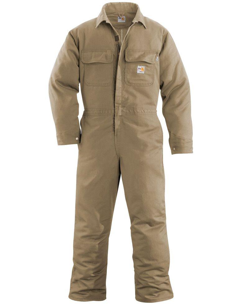 Carhartt Flame Resistant Work Coveralls, Khaki, hi-res