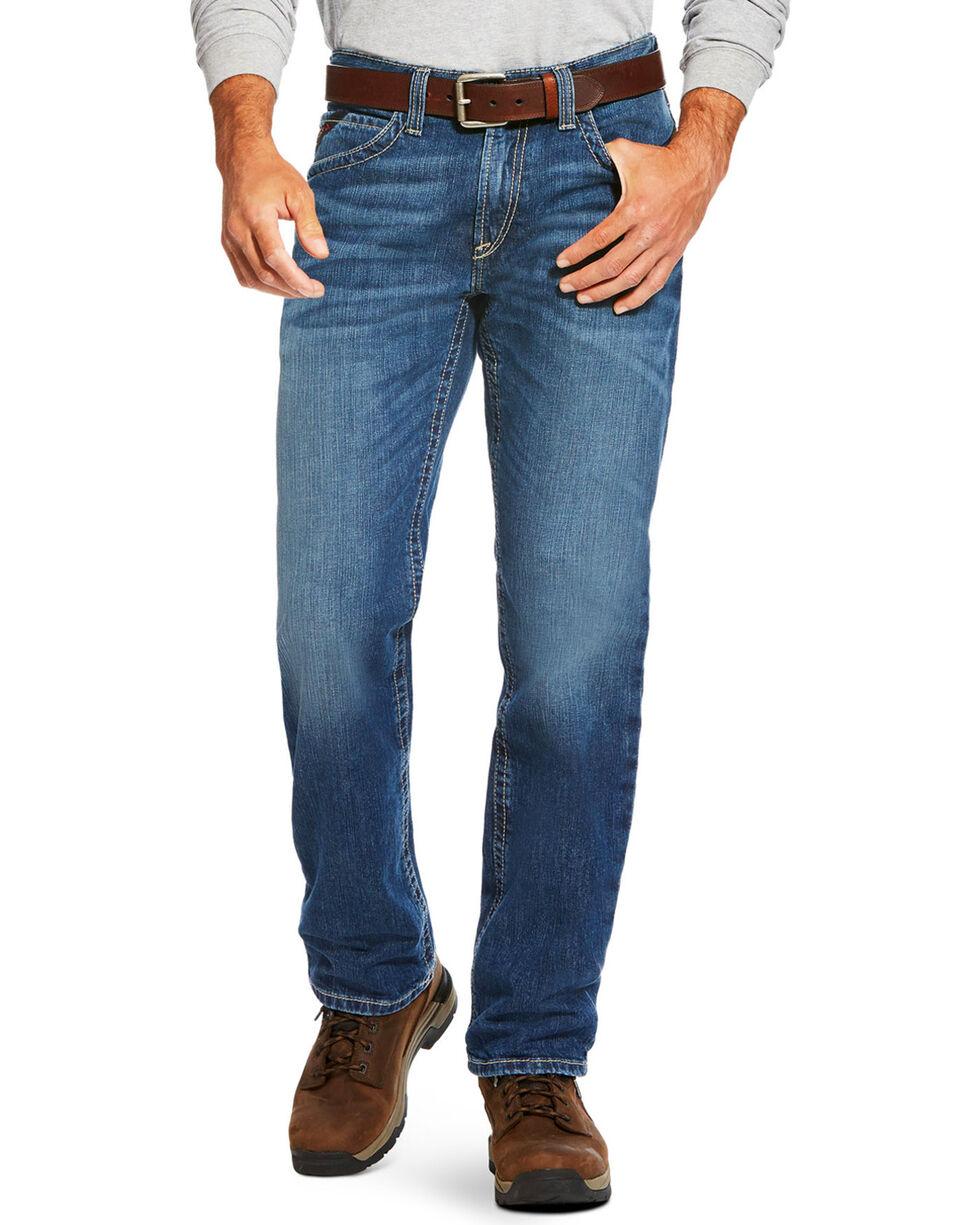 Ariat Men's FR M3 Stitched Incline Loose Fit Jeans - Straight Leg, Blue, hi-res