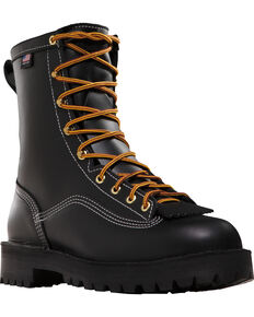 "Danner Men's 8"" Super Rain Forest GTX® Insulated Work Boots, Black, hi-res"