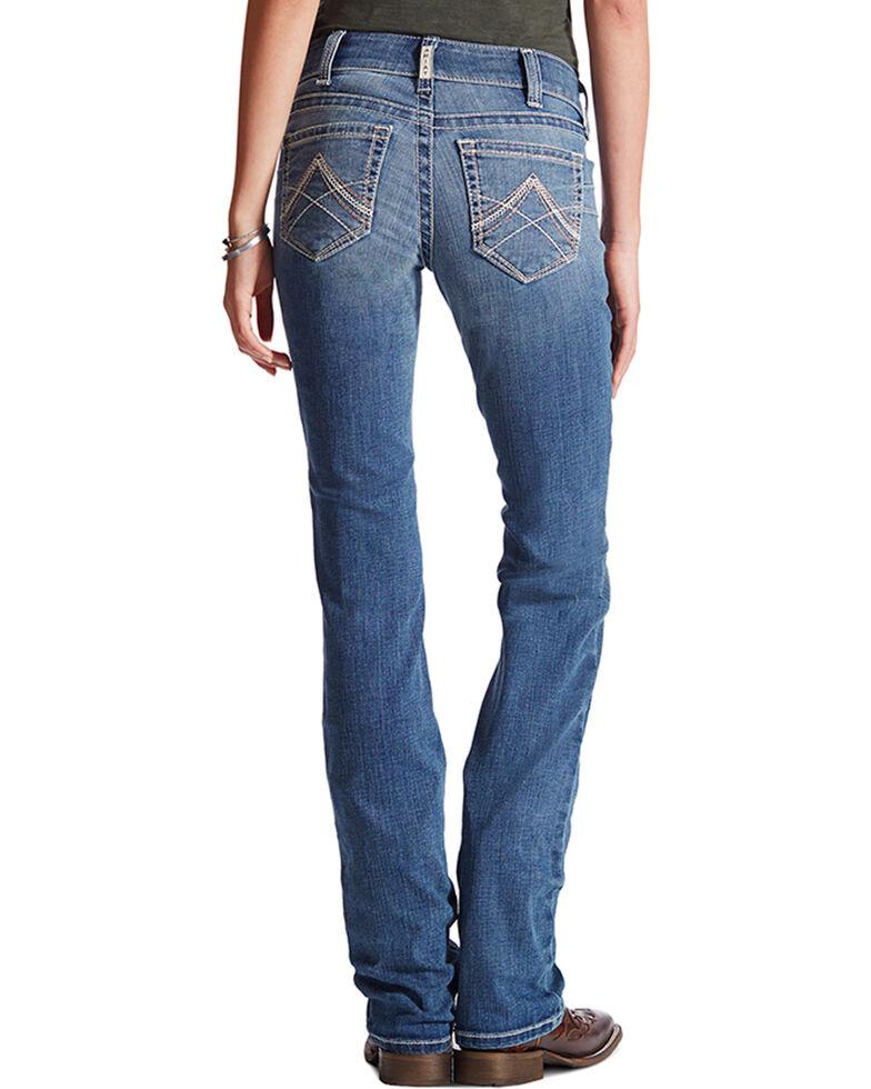Ariat Women's Real Denim Rainstorm Straight Leg Riding Jeans, Indigo, hi-res