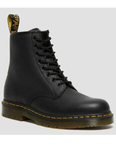 Dr. Martens Women's Black 1460 Industrial Lace-Up Boots - Round Toe, Black, hi-res