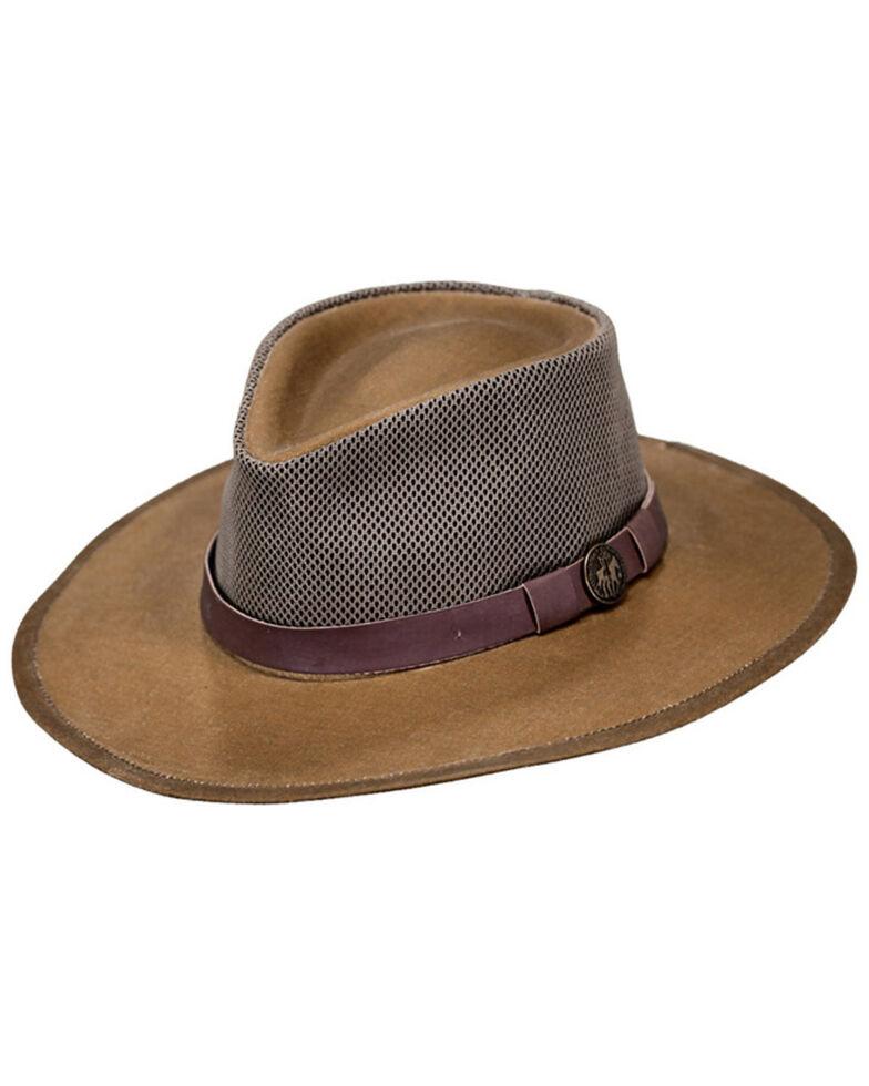 Outback Trading Co. Oilskin Kodiak with Mesh Hat, Tan, hi-res