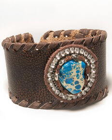 Cowgirl Confetti Women's Moonlight Blues Cuff, Brown, hi-res