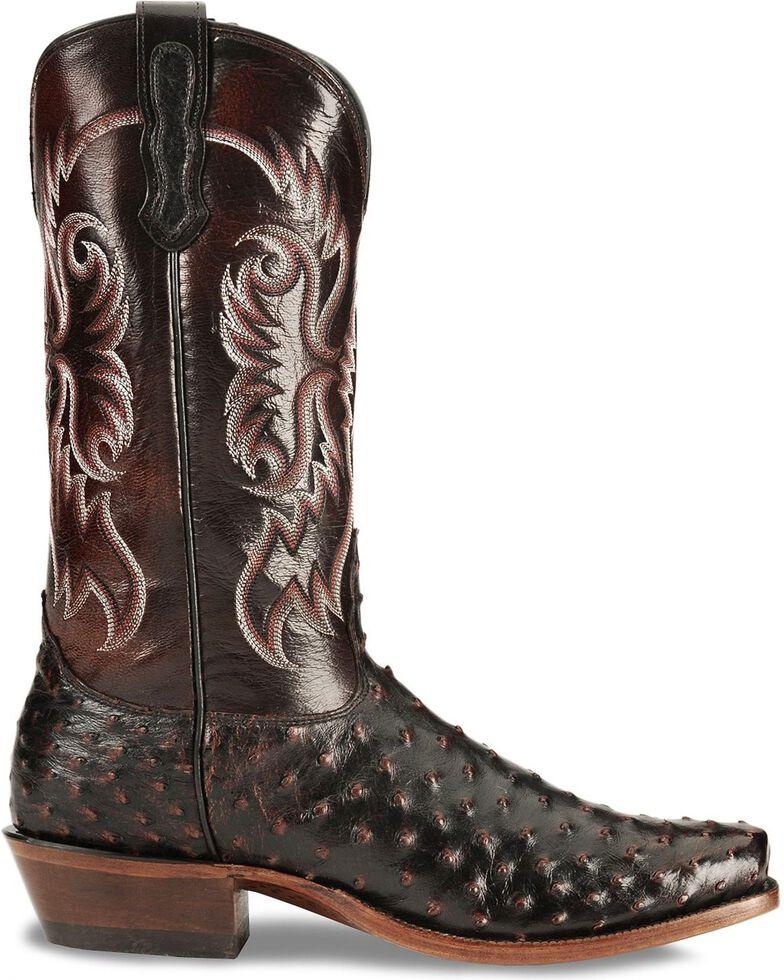 160041d59ee Nocona Men's Black Cherry Full Quill Ostrich Boots - Sq Toe