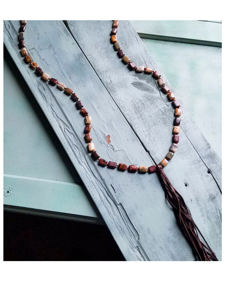 Jewelry Junkie Women's Picasso Jasper Knotted Necklace, Multi, hi-res