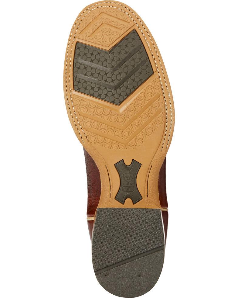 Ariat Men's Cognac Quickdraw Collection Leather Boots - Round Toe , Cognac, hi-res