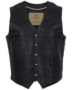 STS Ranchwear Men's Black Chisum Vest - Big , Black, hi-res