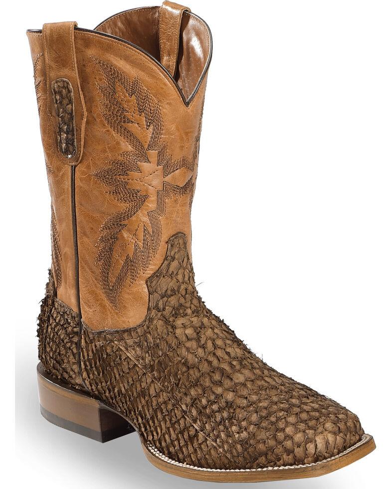 7c1ab7194eb Dan Post Men's Chocolate Sea Bass Stockman Boots - Square Toe