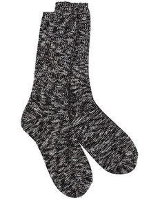 World's Softest Women's Weekend Ragg Crew Socks, Black, hi-res