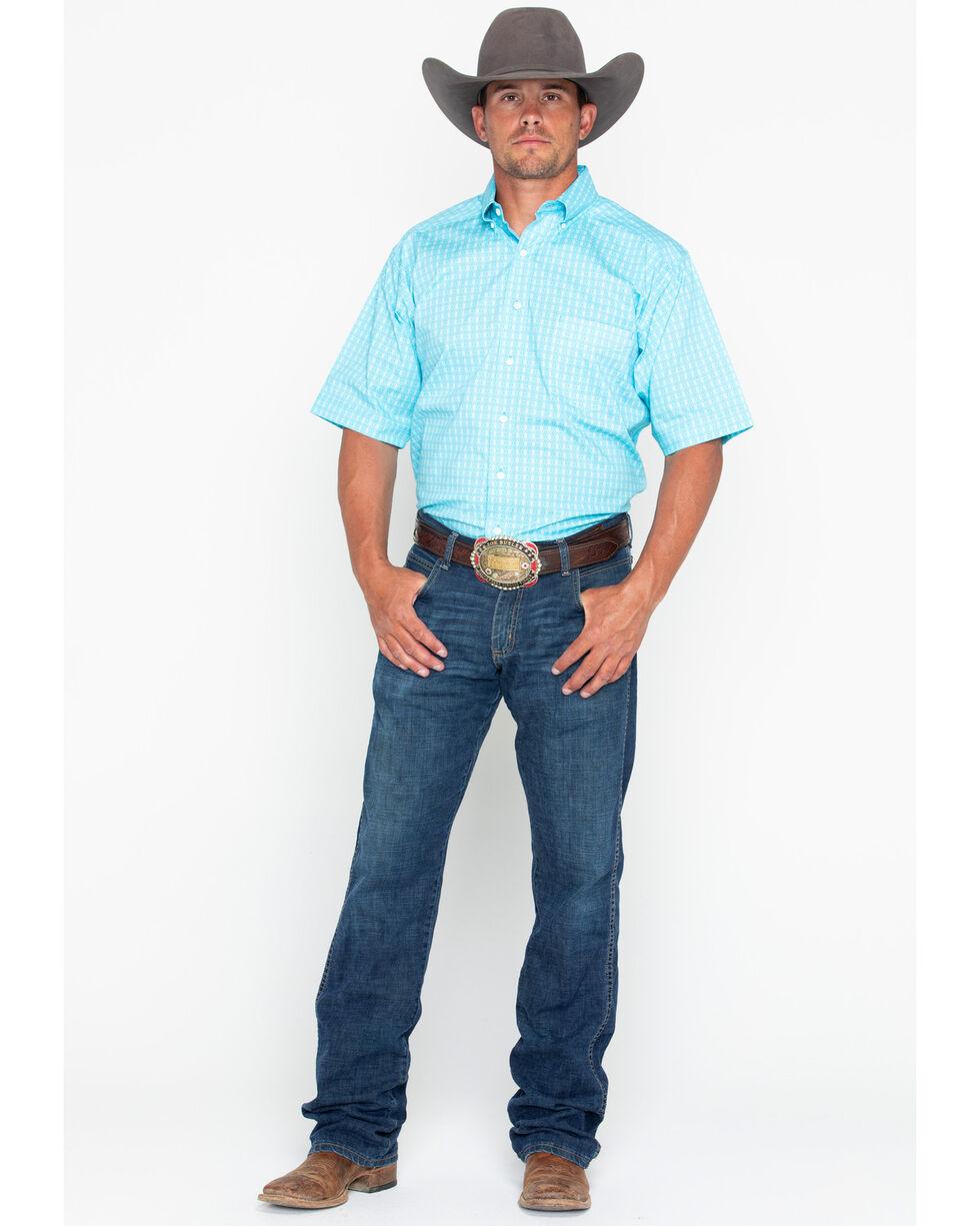 Tuf Cooper Men's Competition Stretch Short Sleeve Shirt, Light Blue, hi-res