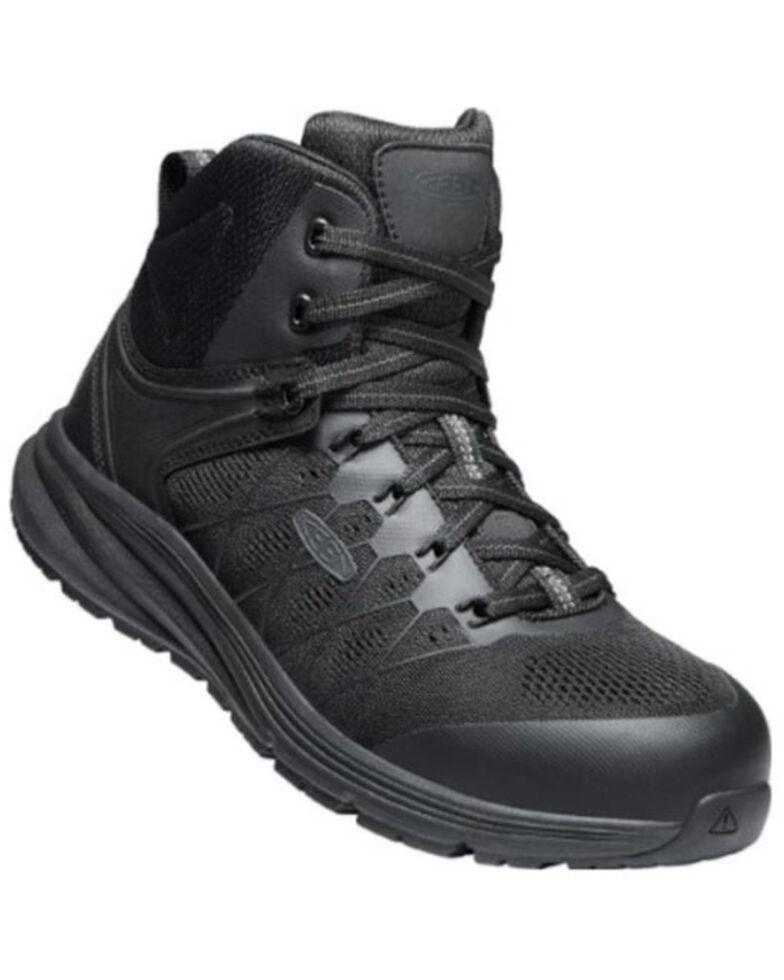 Keen Men's Vista Energy Work Boots - Carbon Toe, Black, hi-res