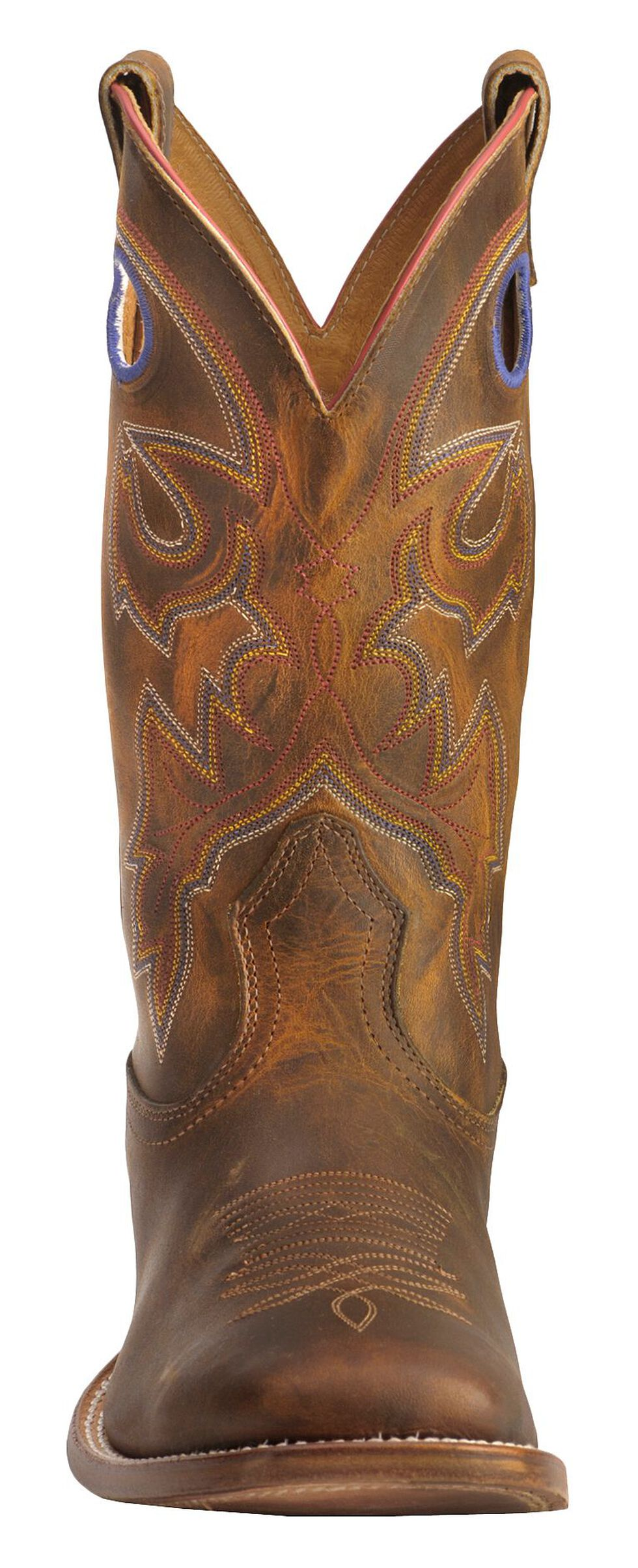 Boulet Stockman Cowboy Boots - Wide Square Toe, Tan, hi-res