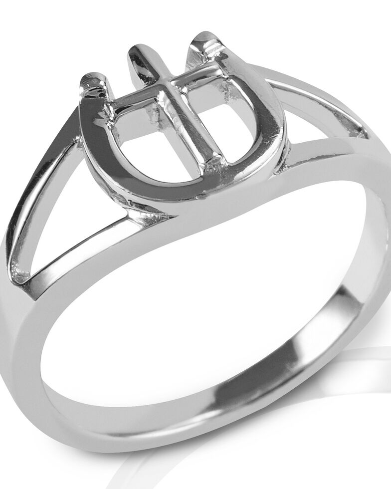 Kelly Herd Women's Cross & Horseshoe Ring, Silver, hi-res