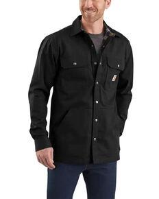 Carhartt Men's Ripstop Work Shirt Jacket , Black, hi-res