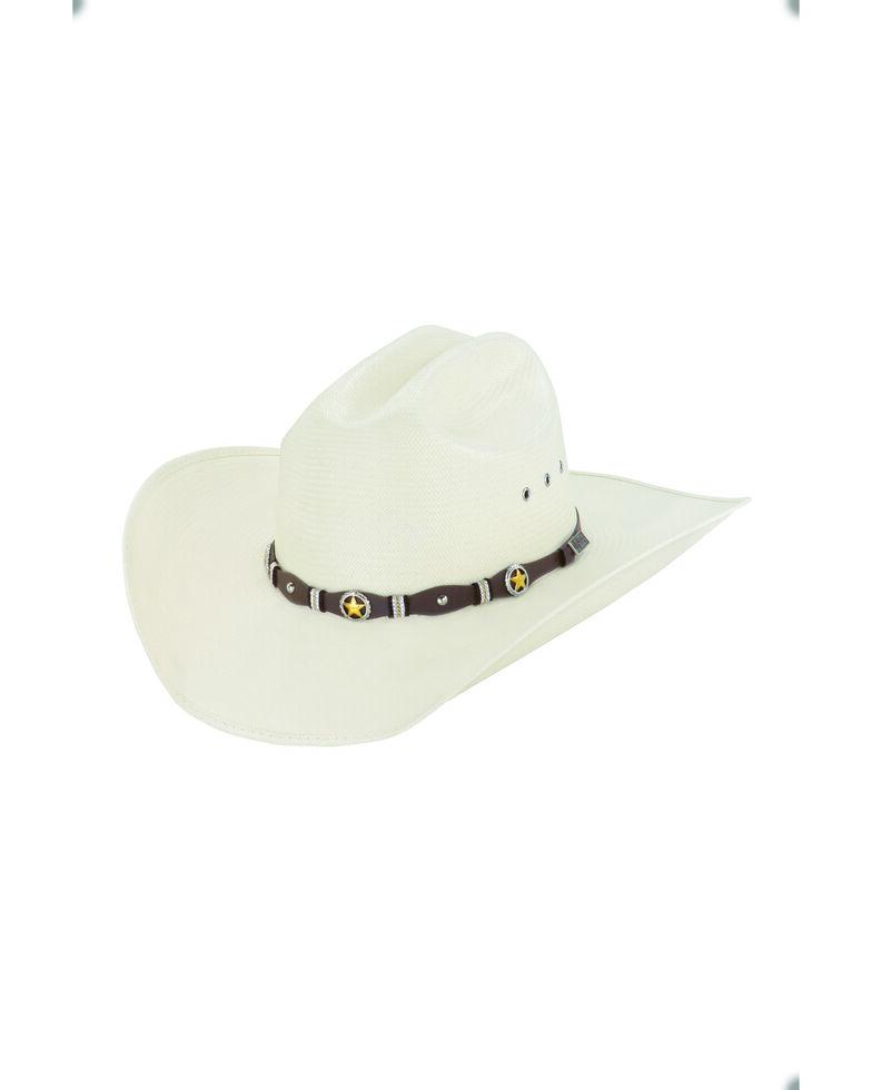 Larry Mahan Men's 10X Ivory Oplin Western Straw Hat , Ivory, hi-res