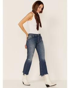 Free People Women's Sequoia Blue Medium Wash Straight Leg Jeans , Dark Blue, hi-res