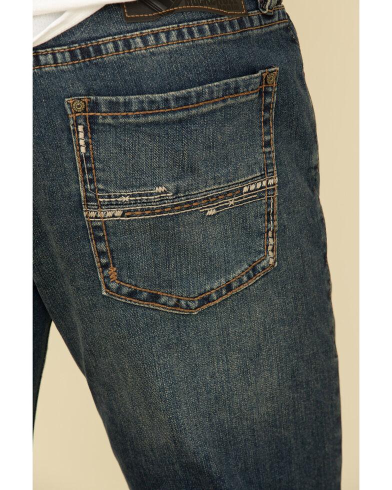 Rock & Roll Cowboy Men's Revolver Dark Vintage Stretch Slim Straight Jeans , Blue, hi-res