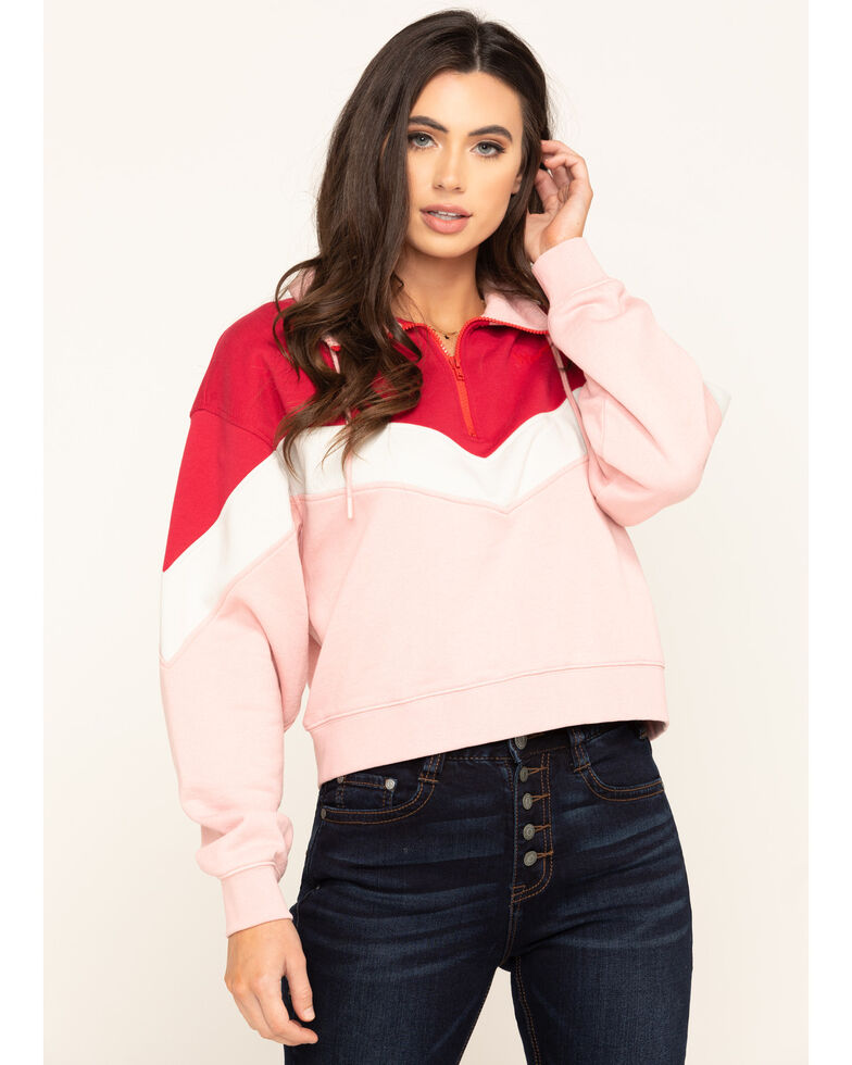 Wrangler Modern Women's Pink Sweatshirt, Pink, hi-res