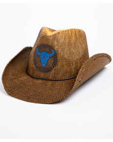 Cody James Men's Blue Bull Hat , Brown, hi-res