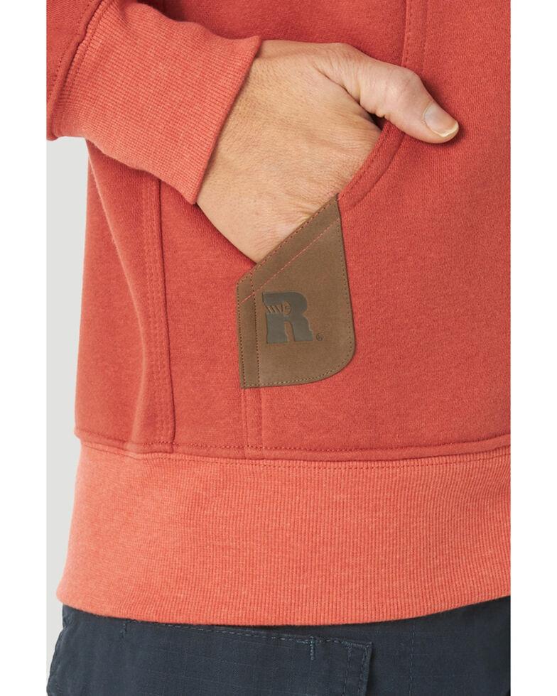 Wrangler Riggs Women's Solid Red Hooded Zip-Front Work Sweatshirt , Red, hi-res