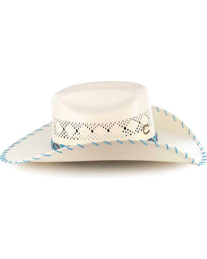 Charlie 1 Horse Girls' Apache Straw Hat, Natural, hi-res