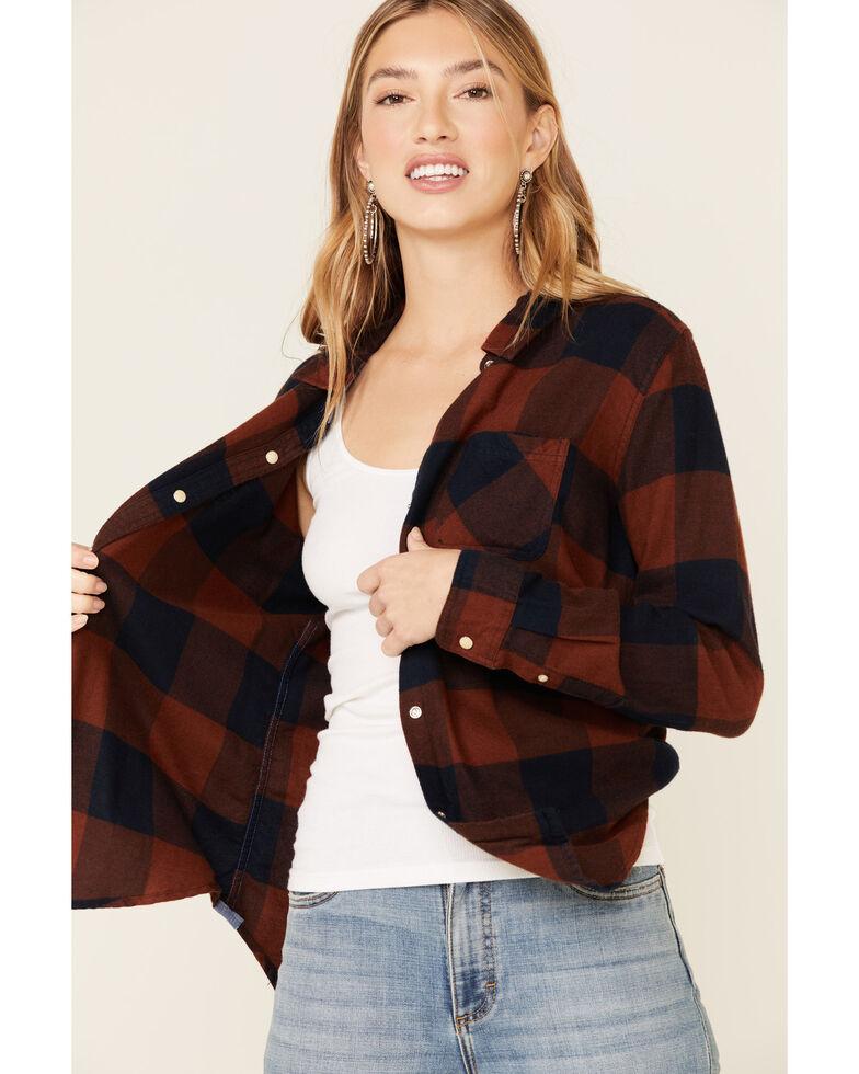 Flag & Anthem Women's Rust Copper Edina Buffalo Plaid Long Sleeve Western Shirt , Rust Copper, hi-res
