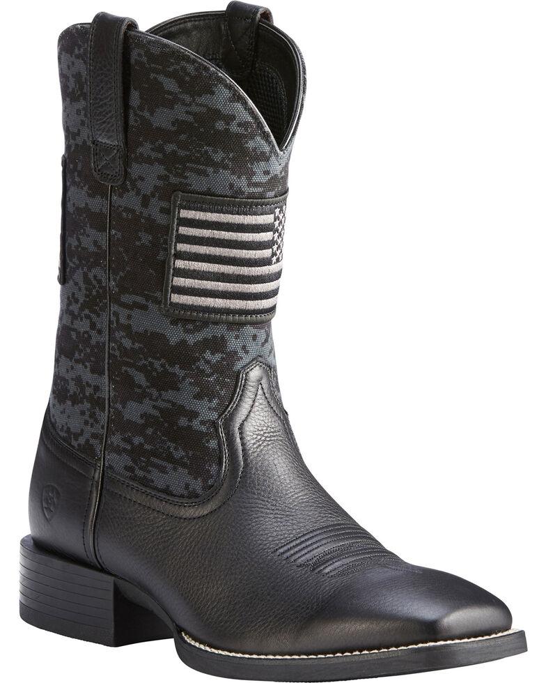 9b4a1a242da Ariat Men's Black Camo Sport Patriot Western Boots - Square Toe