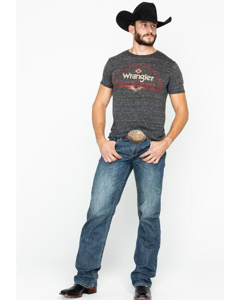 Wrangler Men's American Western Denim Graphic T-Shirt, Black, hi-res