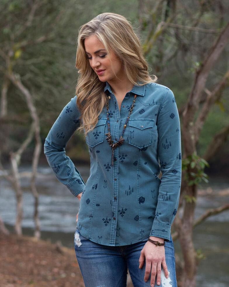 Ryan Michael Women's Buffalo Print Corduroy Shirt, Hunter Green, hi-res