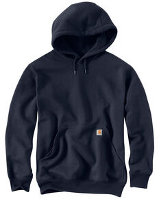 Carhartt Rain Defender Paxton Heavyweight Hooded Sweatshirt - Big & Tall, Navy, hi-res