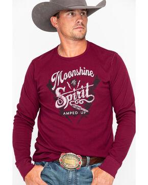 Moonshine Spirit Men's Amped Up Long Sleeve Thermal Shirt , Maroon, hi-res