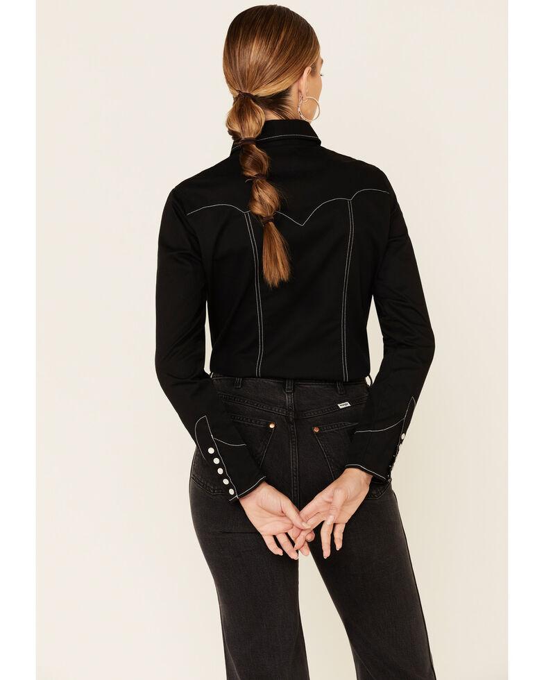 Rock & Roll Denim Women's Black Multi Arrow Rodeo Long Sleeve Western Shirt , Black, hi-res