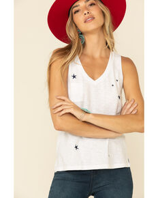 Z Supply Women's White Sunset Star Tank Top, White, hi-res