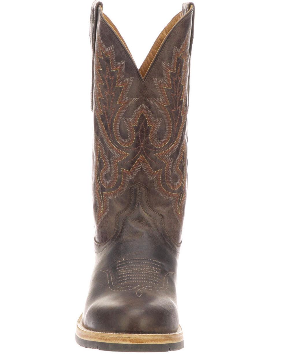 Lucchese Men's Rusty Western Boots - Medium Toe, Dark Brown, hi-res