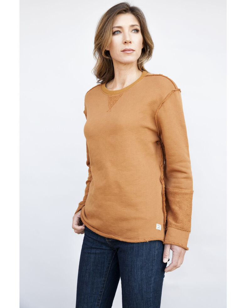 Kimes Ranch Women's Sienna Lucy Crew, Brown, hi-res