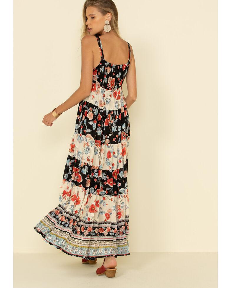 Patrons of Peace Women's Floral Print Maxi Dress, Ivory, hi-res