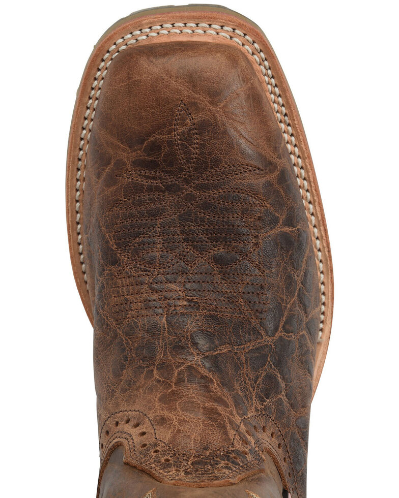 Double H Men's Harshaw Western Work Boots - Soft Toe, Distressed Brown, hi-res