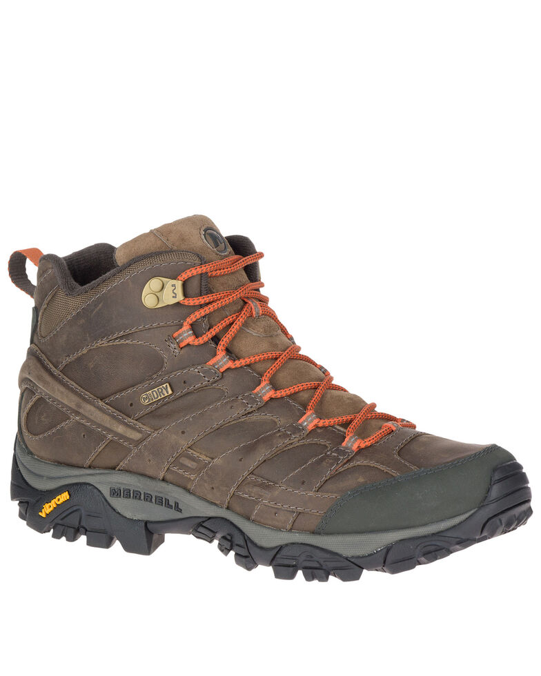 Merrell Men's MOAB 2 Prime Hiking Boots - Soft Toe, Brown, hi-res
