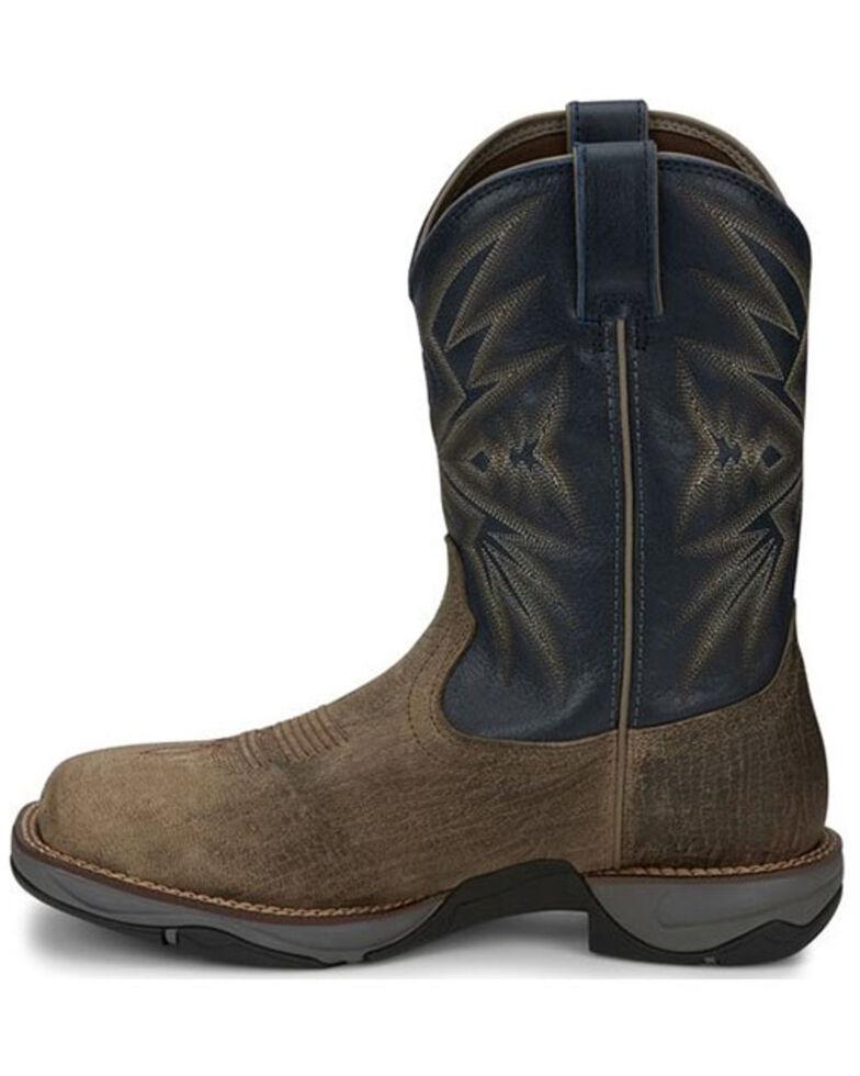 Tony Lama Men's Bartlett Stone Western Boots - Square Toe, Brown, hi-res