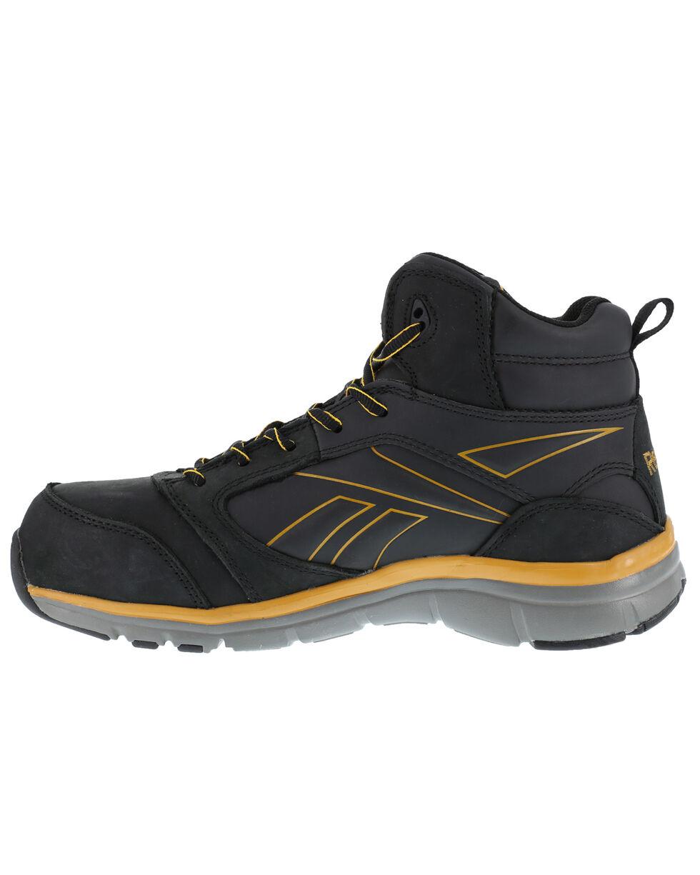 Reebok Men's Tarade High-Top Athletic Work Shoes - Composite Toe, Black, hi-res