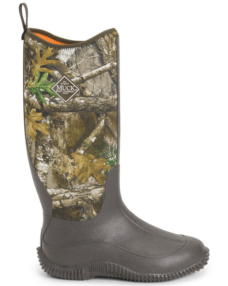 Muck Boots Women's Hale Realtree Rubber Boots - Round Toe, Brown, hi-res