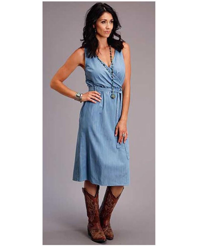 Stetson Women's Blue Chambray Tencel Dress, Blue, hi-res