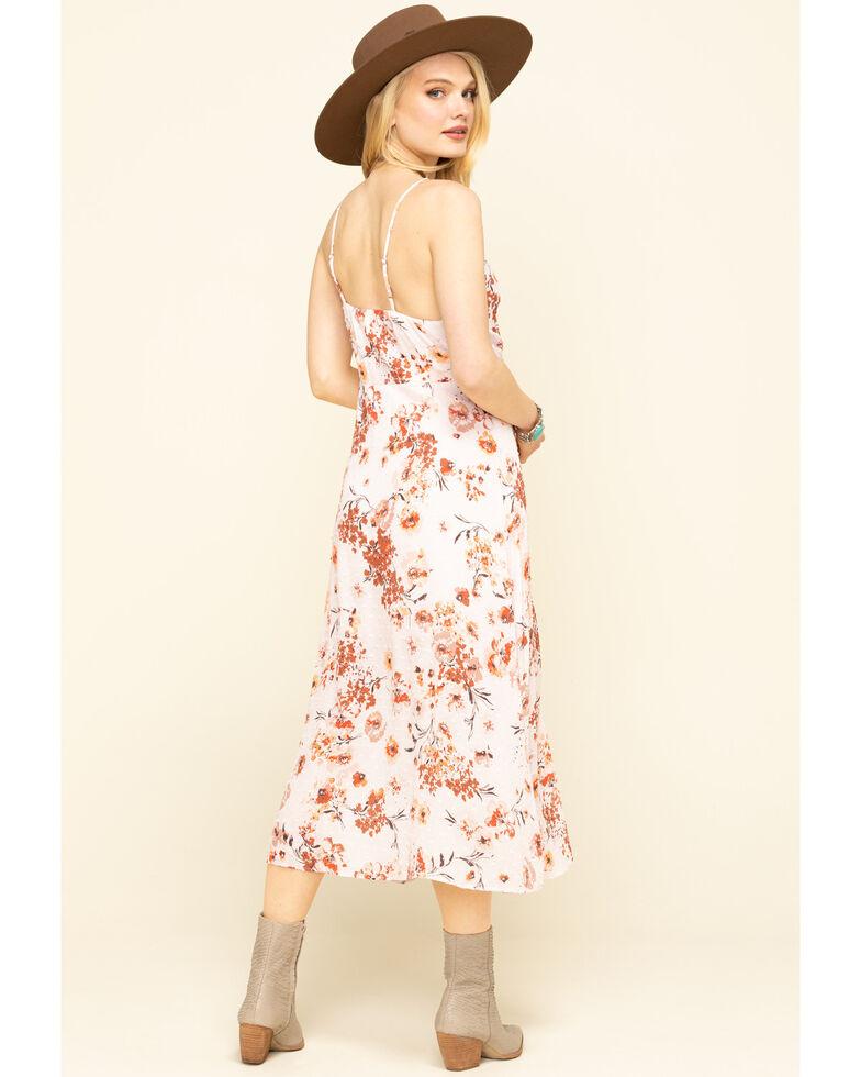 Nikki Erin Women's Blush Floral Ruffle Button Dress , Blush, hi-res