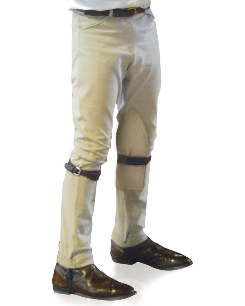 Ovation Boys' Four-Pocket EuroWeave Breeches, Tan, hi-res